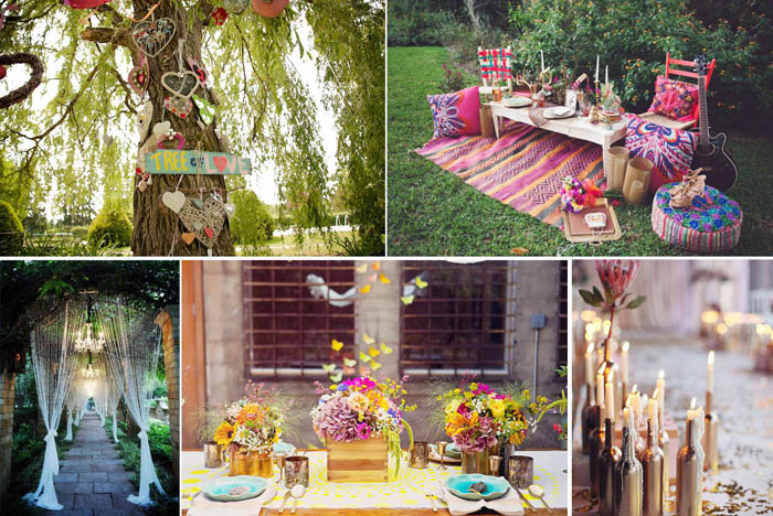 Decoración boda hippie