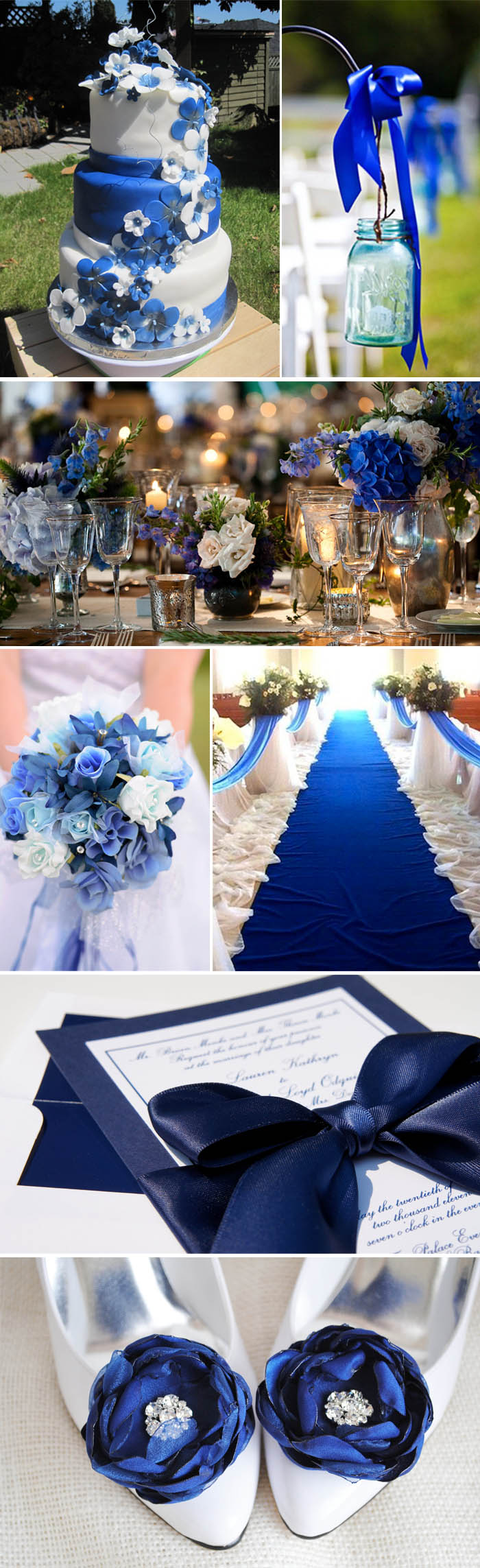 Color de boda. Azul